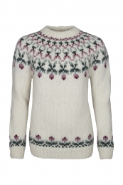 Handknitted Icelandic Sweater HSI-224 - white combination
