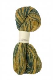 Islandwolle - Einband - Petrol-Gelb Dunkel Mix - W26