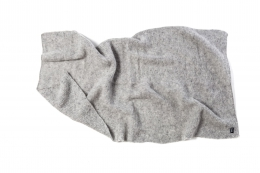 VARMA Wolldecke Islandwolle - grau