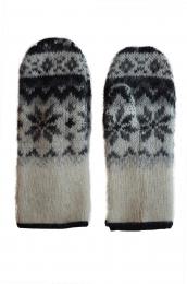 KIDKA 025 Mitaines de laine blanc