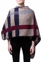VARMA Botna womens wool poncho - brown