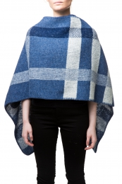 VARMA Botna womens wool poncho - light-blue