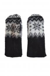 KIDKA 026 - Mitaines de laine noir