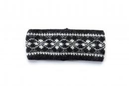 VARMA 019 headband patternd - black