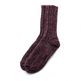 VARMA Icelandic Wool rag socks - red