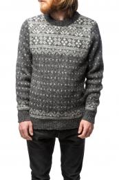 Herren Wollpullover - grau - Größe L