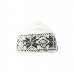 VARMA 035 icelandic wool hat - white/grey