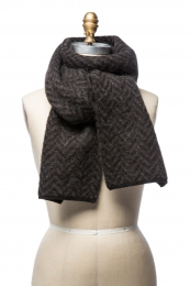 VARMA 047 - fishbone scarf - brown / black