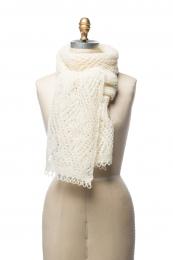 VARMA 048 - Damen Woll-Schal - weiss