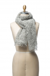 VARMA 049 - Damen Schal - grau
