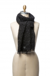 VARMA 053 - Damen Schal - schwarz