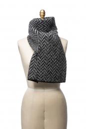 VARMA 058 - fishbone scarf - black / grey