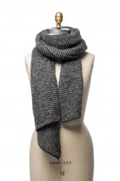 VARMA 063 - Schal gestreift - grau-schwarz