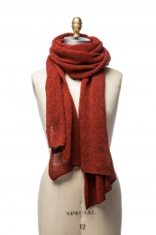 VARMA 068 - wool shawl - red