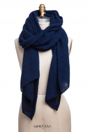 VARMA 069 - wool shawl - navy blue