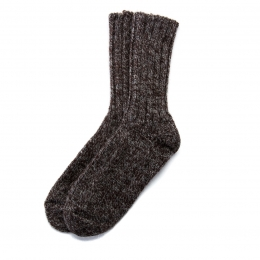 VARMA Icelandic Wool rag socks - brown