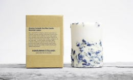 Lupine Sojawachs-Kerze 10 cm - handgefertigt - Railis Design