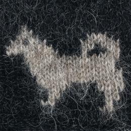 Wollmütze Islandhund - schwarz