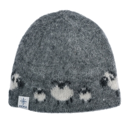 Woolly hat - sheep - grey