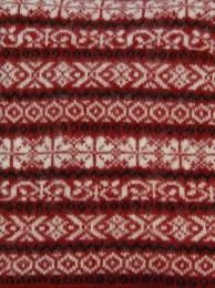 Isländische Tagesdecke Wolldecke - Rot