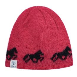 KIDKA 040 Wollmütze Islandpferde - One size - Pink