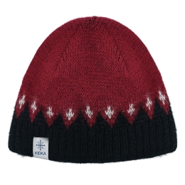 KIDKA 041 Woolly hat - red / black / white