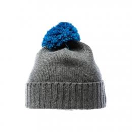 VARMA 081 woolen bobble hat - grey / blue