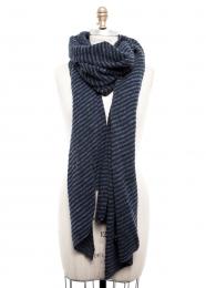 VARMA 087 - 3 colors knit scarf - blue kombi