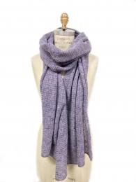 VARMA 088 - 2 colors knit scarf - purple-grey