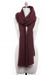 VARMA 090 - 3 colors knit scarf - black / bordeaux / orange