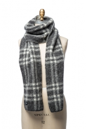 VARMA 092 - Scarf with check pattern - grey / white