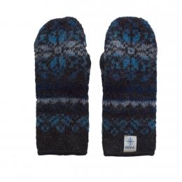Island Fäustlinge KID-136 - schwarz/blau