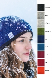 Icelandic wool hat with fleece - different colors