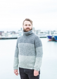 Icelandic Wool Jumper w. turtleneck - grey