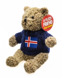 Kuscheltier Bär mit Pullover u. Islandfahne