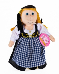 Isländische Puppe - Frau in Nationaltracht - 24 cm
