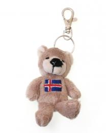 Teddybär Schlüsselanhänger - mit Islandfahne