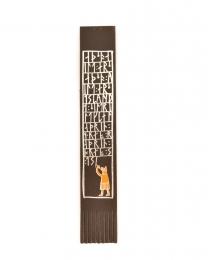 Lesezeichen Leder - Wikinger Schrift