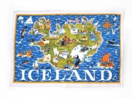 Geschirrtuch - Karte von Island - Iceland