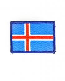 Gewebter Aufnäher - Kleine Islandfahne - Aufbügler