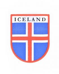 Iceland Abzeichen - Aufbügler - Gewebter Aufnäher