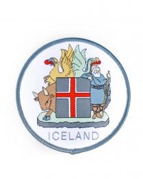 Isländisches Wappen - Aufbügler - Gewebter Aufnäher