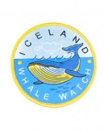 Walbeobachtung Island - Aufbügler - Gewebter Aufnäher