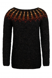 Handknitted Icelandic Sweater - Lava - black