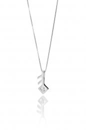 Alrún - Silberkette mit Anhänger - Liebe