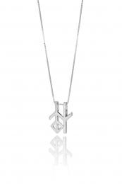 Alrún - Silberkette mit Anhänger - Weisheit