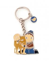 Schlüsselanhänger - Kind umarmt Islandhund