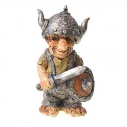 Wikinger Figur mit Schild und Schwert