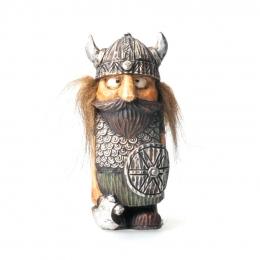 Wikinger Figur mit Haaren und Axt
