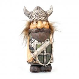 Wikinger Figur mit Haaren - Schwert und Schild